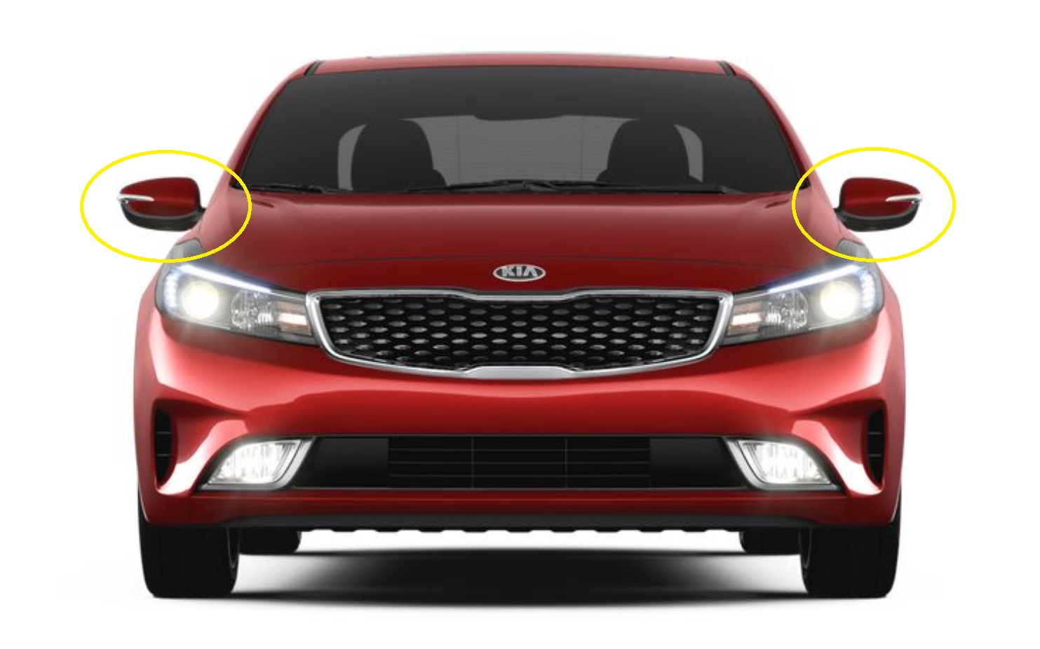 Real Carbon Side Mirror Cover For Kia 2014 2017 Forte